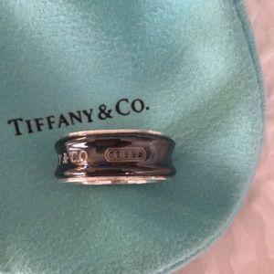 Tiffany ring. 1837/925 Sterling Silver/ Titanium.